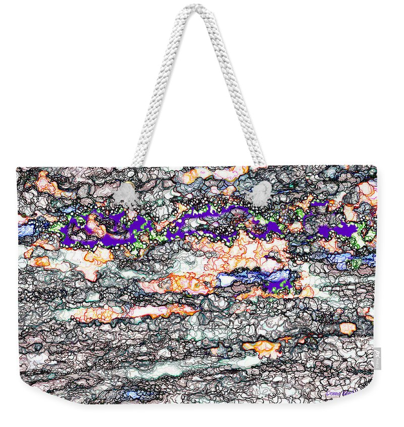 Line Weekender Tote Bag featuring the digital art Life's Little Difficulties by Donna Blackhall