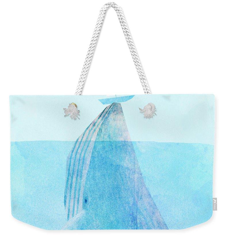 Blue Weekender Tote Bags