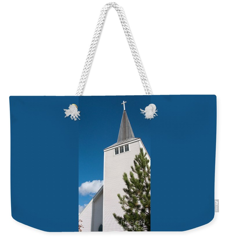 Cross Weekender Tote Bag featuring the photograph Lift High The Cross by Ann Horn