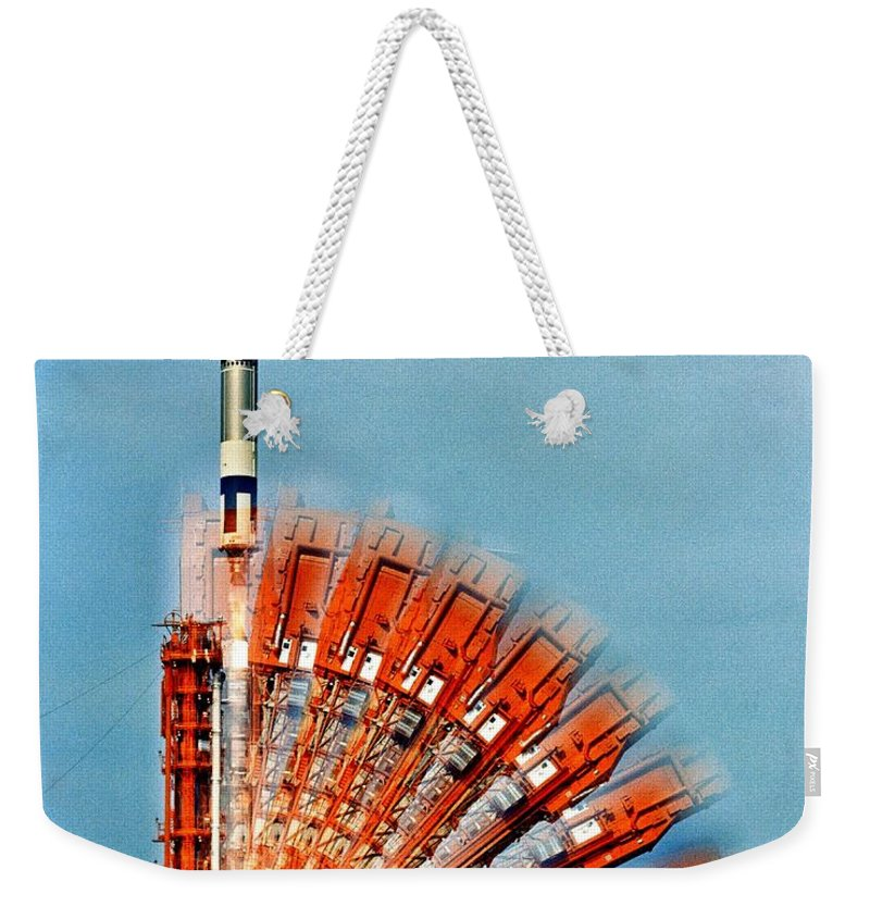Nasa Weekender Tote Bag featuring the photograph Lift Off by Benjamin Yeager