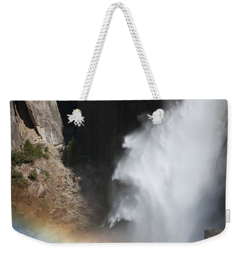 California Weekender Tote Bag featuring the photograph Light And Water - Yosemite Falls by Sandra Bronstein
