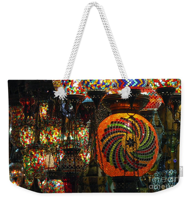 Grand Bazaar Weekender Tote Bag featuring the photograph Light Fixtures by Bob Phillips