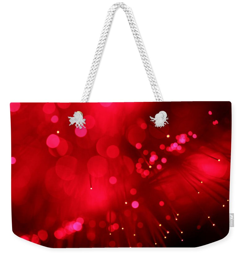 Abstract Weekender Tote Bag featuring the photograph Light My Fire by Dazzle Zazz