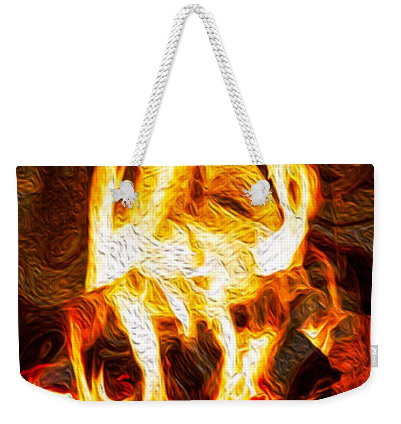 Georgia Okeefe Weekender Tote Bag featuring the painting Light My Fire IIi by Omaste Witkowski