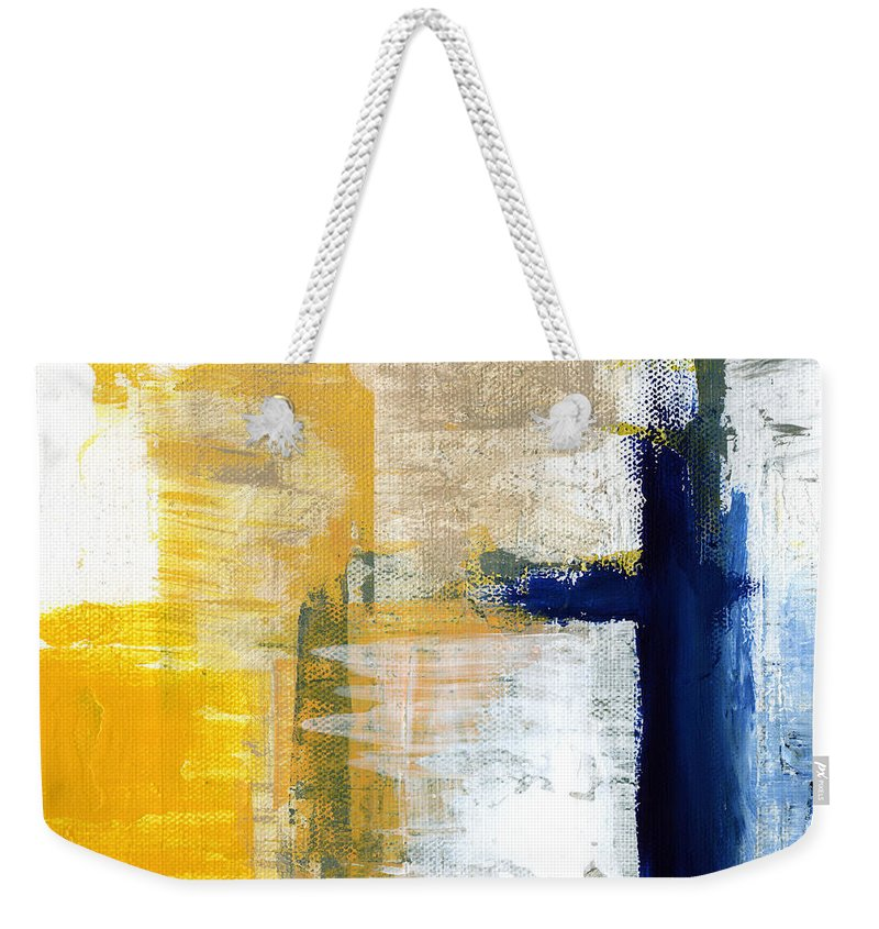 Abstract Weekender Tote Bag featuring the painting Light Of Day 3 by Linda Woods