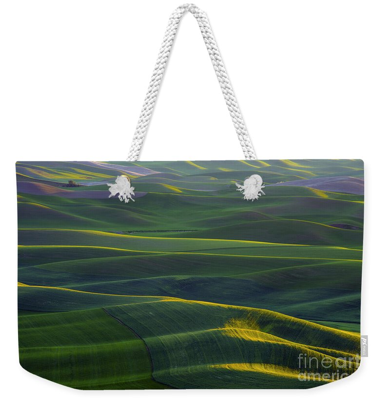 Steptoe Butte State Park Weekender Tote Bag featuring the photograph Light Streaks by Bob Phillips