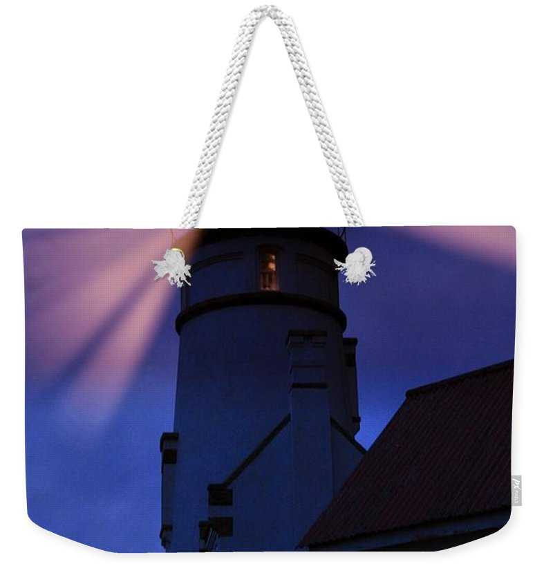 Heceta Head Weekender Tote Bag featuring the photograph Light Up The Ocean And Sky by Image Takers Photography LLC - Laura Morgan