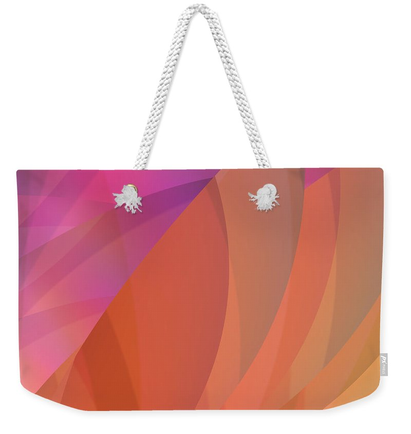 Abstract Weekender Tote Bag featuring the digital art Lighthearted by Judi Suni Hall