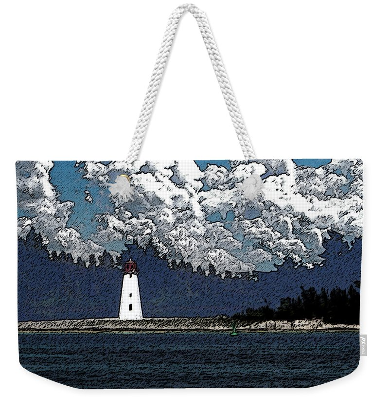 Nassau Bahamas Weekender Tote Bag featuring the photograph Lighthouse by Aimee L Maher ALM GALLERY
