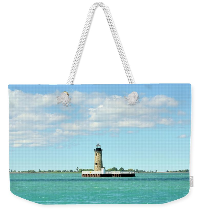 Scenics Weekender Tote Bag featuring the photograph Lighthouse Lake St. Clair by Rivernorthphotography
