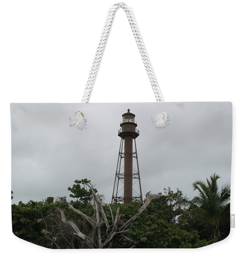 Ligthouse Weekender Tote Bag featuring the photograph Lighthouse On Sanibel Island by Christiane Schulze Art And Photography