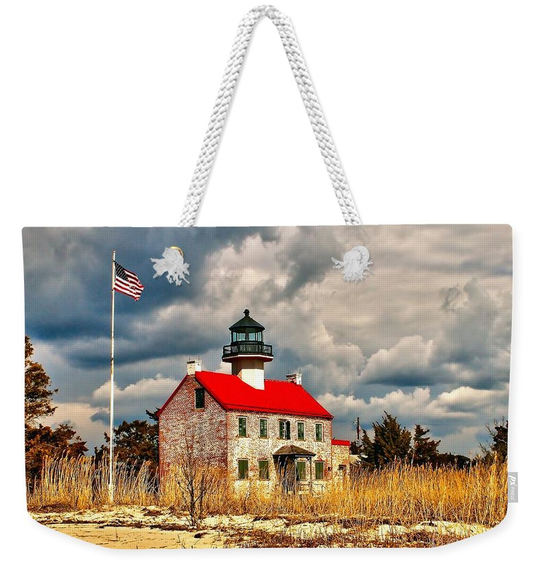 Architecture Weekender Tote Bag featuring the photograph Lighthouse On The Delaware by Nick Zelinsky