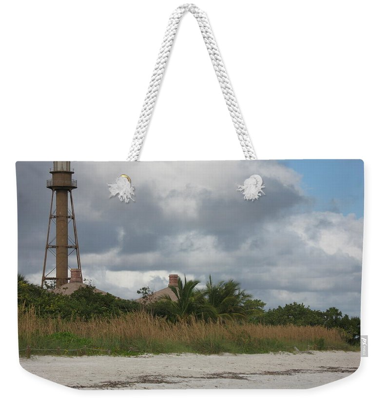 Ligthouse Weekender Tote Bag featuring the photograph Sanibel Island Light by Christiane Schulze Art And Photography