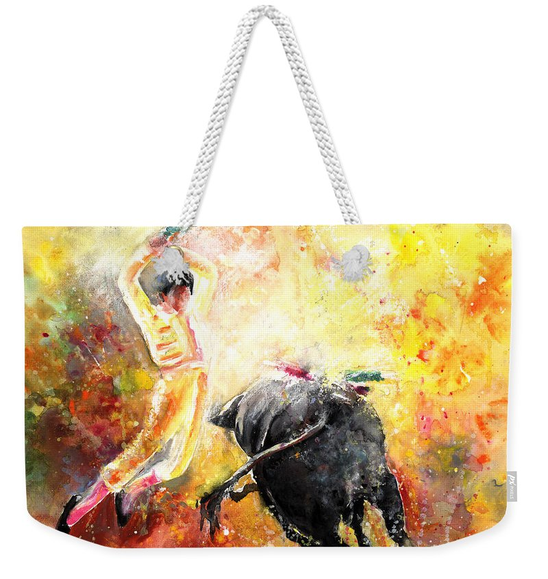 Animals Weekender Tote Bag featuring the painting Lightning Strikes by Miki De Goodaboom