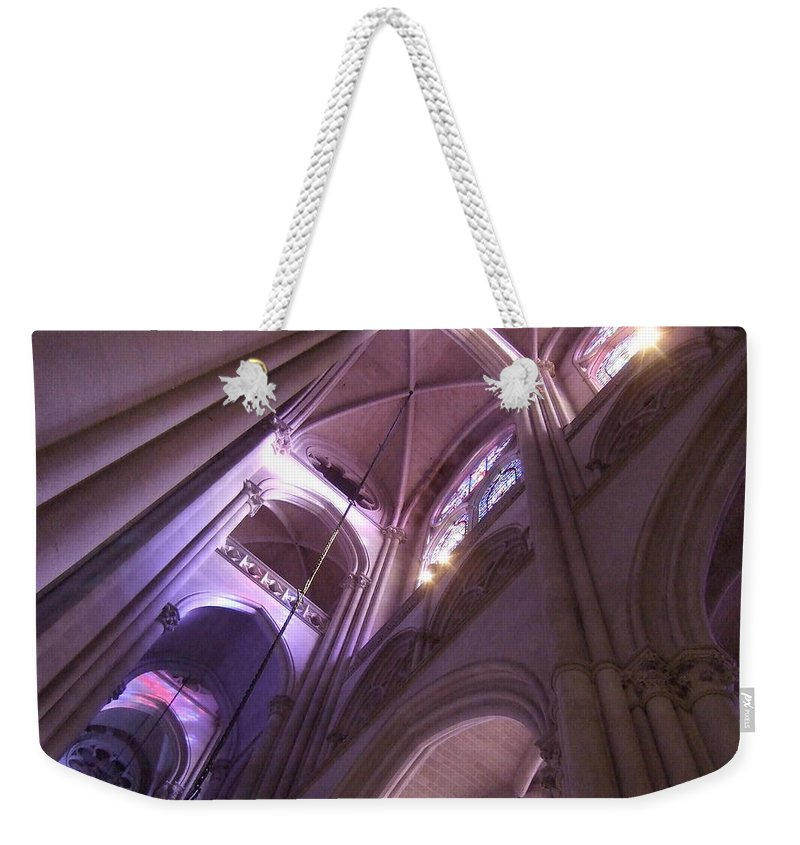 Weekender Tote Bag featuring the photograph Lights And Shadows by Katerina Naumenko