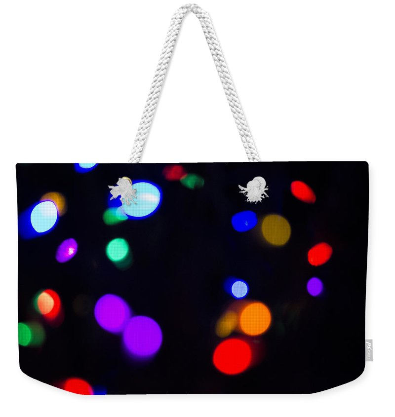Sky Is The Limit Images Weekender Tote Bag featuring the photograph Lights by Becca Buecher