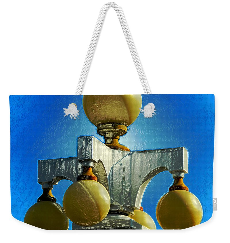 Lights Of Old Tampa Bay Weekender Tote Bag featuring the painting Lights Of Tampa Bay by David Lee Thompson