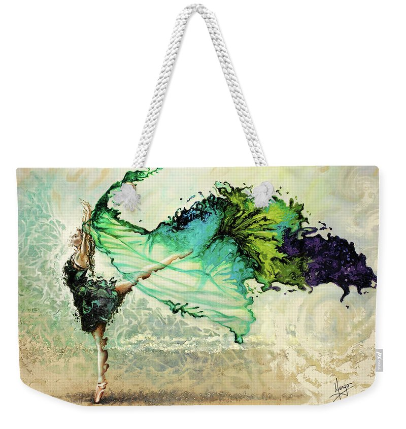 Liberty Weekender Tote Bag featuring the painting Like Air I Will Raise by Karina Llergo