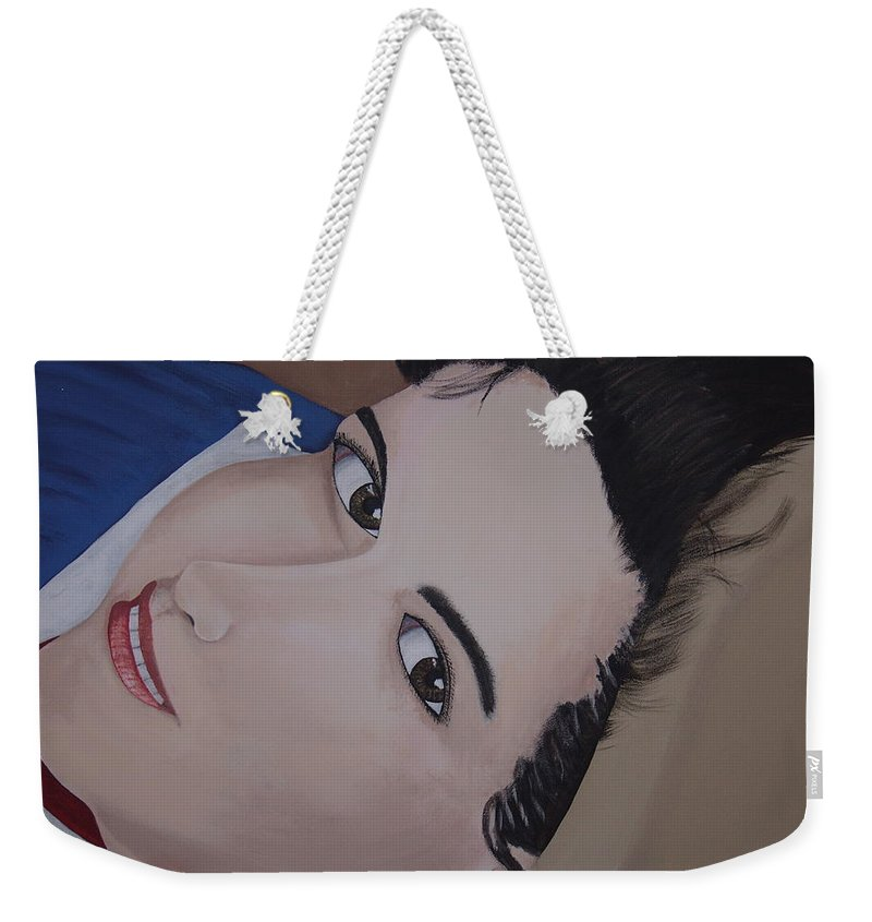 Portrait Weekender Tote Bag featuring the painting Lilly by Dean Stephens