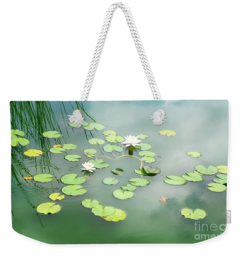 Lilly Pads Weekender Tote Bag featuring the photograph Lilly Pads by Erika Weber