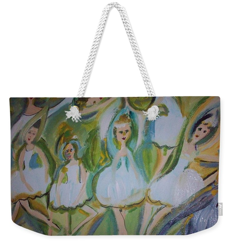 Ballet Weekender Tote Bag featuring the painting Lily Allegro Ballet by Judith Desrosiers