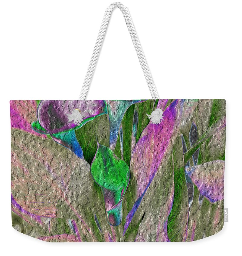 Lily Tapestry Abstract Print Weekender Tote Bag featuring the digital art Lily Tapestry by Mae Wertz