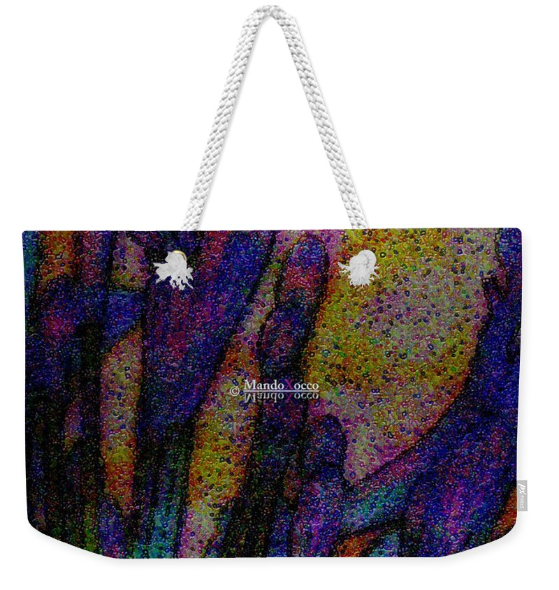 Design Weekender Tote Bag featuring the mixed media Lilyvio by Mando Xocco