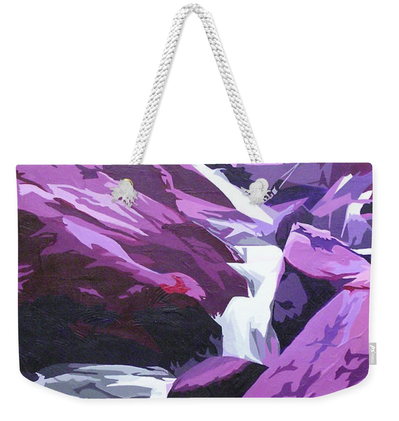 Creek Weekender Tote Bag featuring the painting Limpy Creek by Joshua Morton