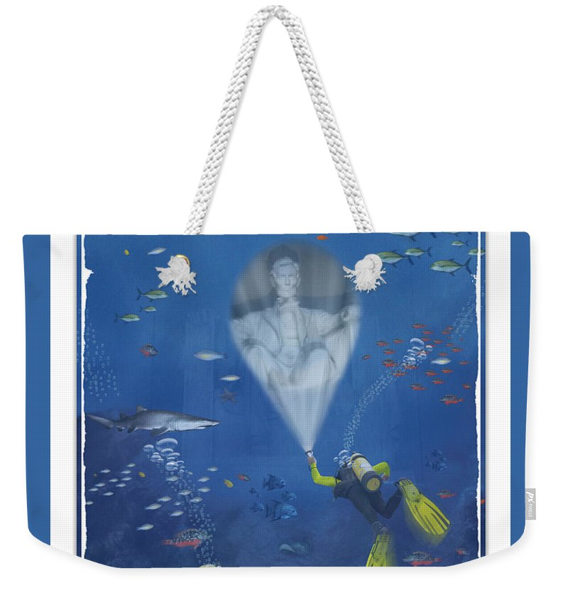 Pop Art Weekender Tote Bag featuring the photograph Lincoln Diving Center by Mike McGlothlen