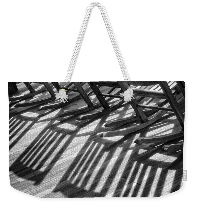 Shadows Weekender Tote Bag featuring the photograph Lined Up by Claudia Kuhn