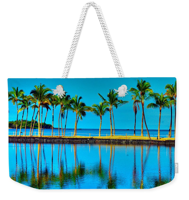 Beach Weekender Tote Bag featuring the photograph Lined Up by John Dauer
