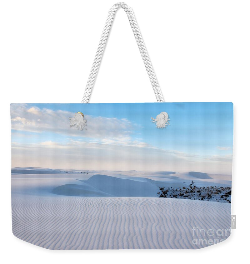 White Sands Weekender Tote Bag featuring the photograph Lines In The Sand by Vivian Christopher