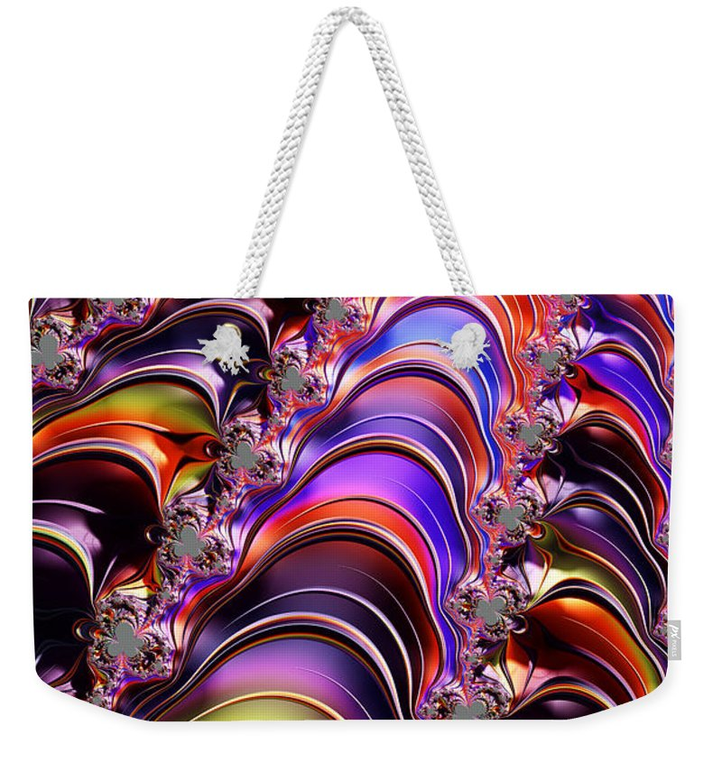 Fractal Weekender Tote Bag featuring the digital art Lines Of Communication by Steve Purnell