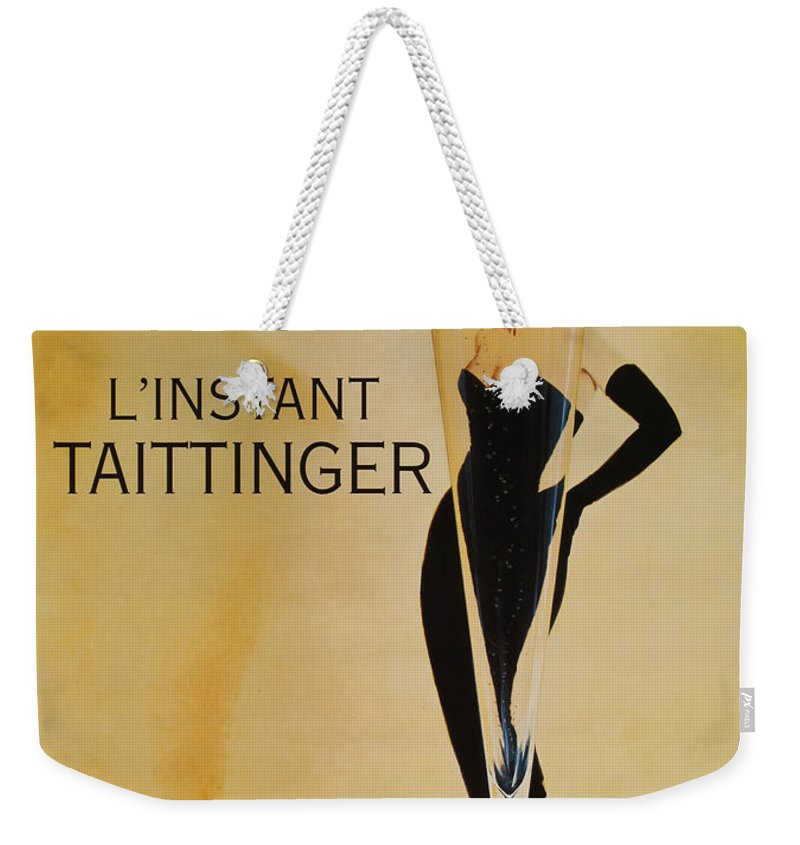 L'instant Taittanger Weekender Tote Bag featuring the digital art L'Instant Taittinger by Georgia Fowler