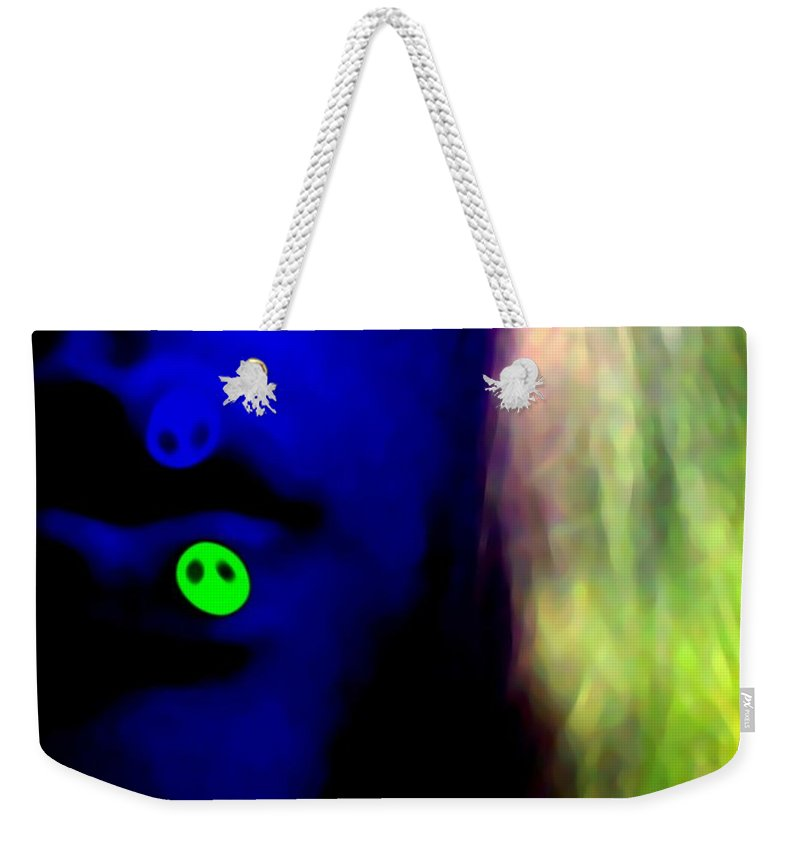 Blue Weekender Tote Bag featuring the photograph Lips Of Peace by Jessica Shelton