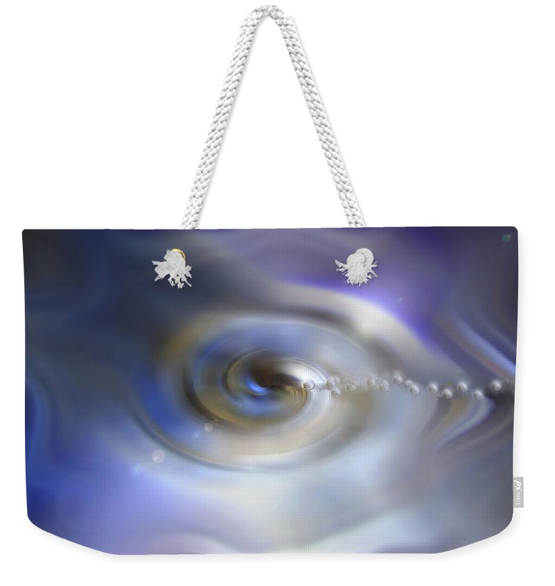 Liquid Eye Weekender Tote Bag featuring the digital art Liquid Eye by Linda Sannuti