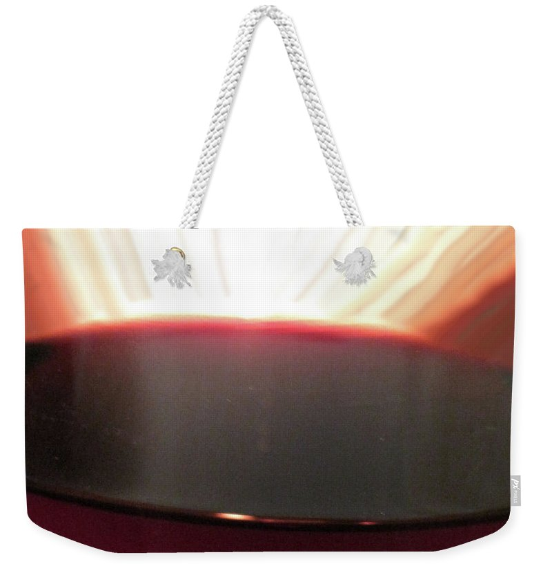 Wine Weekender Tote Bag featuring the photograph Liquid Fire by Ian MacDonald