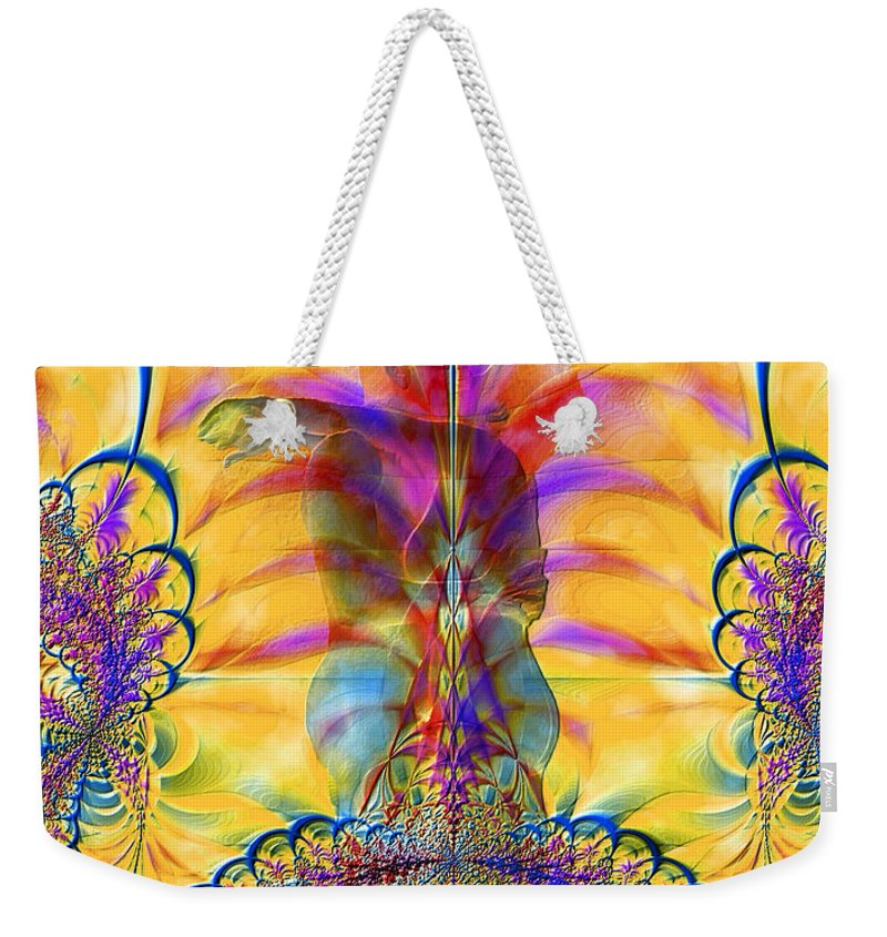 Nude Weekender Tote Bag featuring the photograph Liquid Lace by Kurt Van Wagner