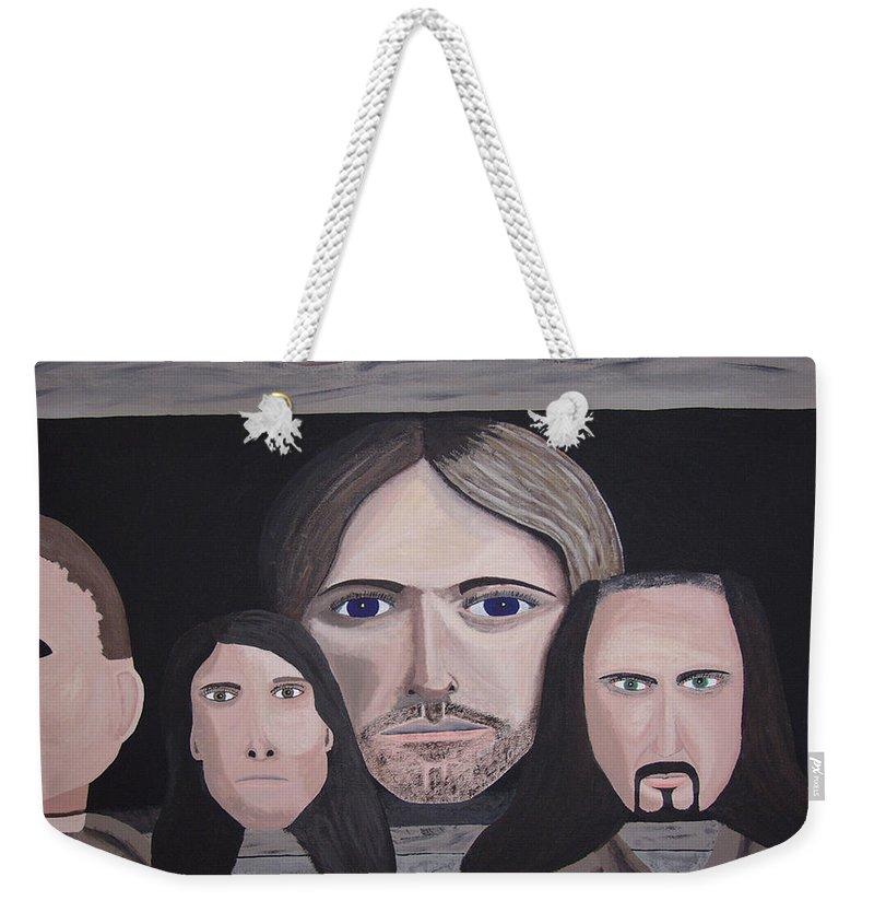 Original Weekender Tote Bag featuring the painting Lithium by Dean Stephens