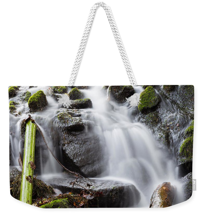 Dublin Weekender Tote Bag featuring the photograph Little Cascade In Marlay Park Dublin by Semmick Photo