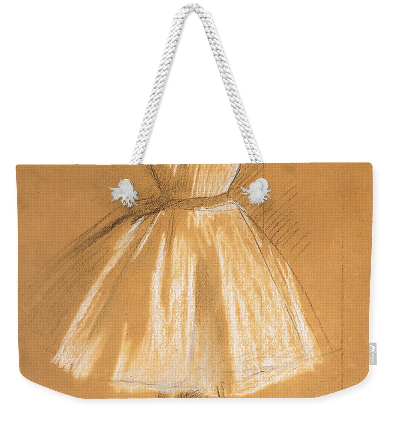 Petite Danseuse Weekender Tote Bag featuring the drawing Little Dancer by Edgar Degas