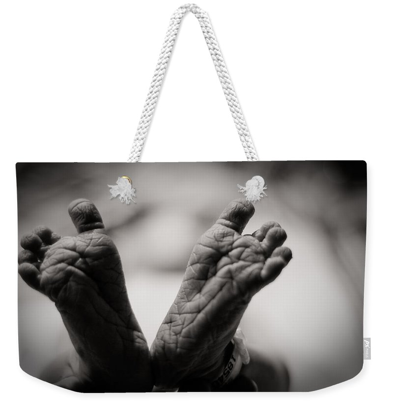 3scape Photos Weekender Tote Bag featuring the photograph Little Feet by Adam Romanowicz