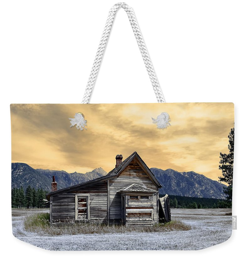 Architecture Weekender Tote Bag featuring the photograph Little House On The Prairie by Wayne Sherriff