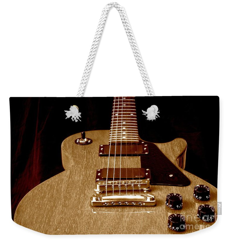 Les Paul Weekender Tote Bag featuring the photograph Little Les Can Be More by Robert Frederick