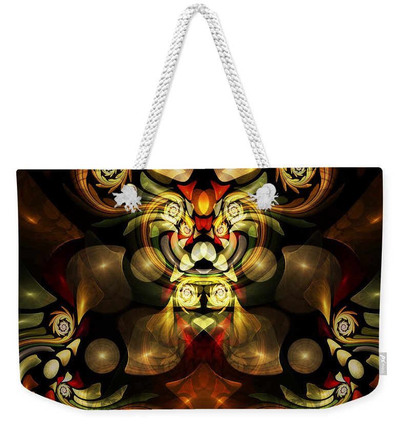 Ractal Weekender Tote Bag featuring the digital art Little Lion - If You're Watching From A Distance by Klara Acel