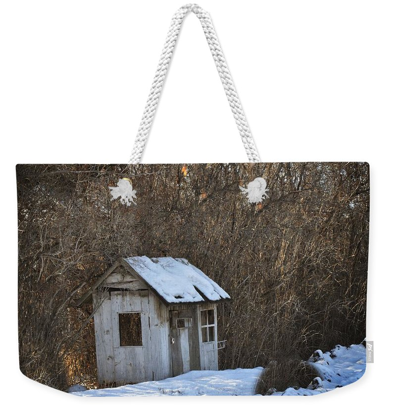 Play House Weekender Tote Bag featuring the photograph Little Play House by Image Takers Photography LLC