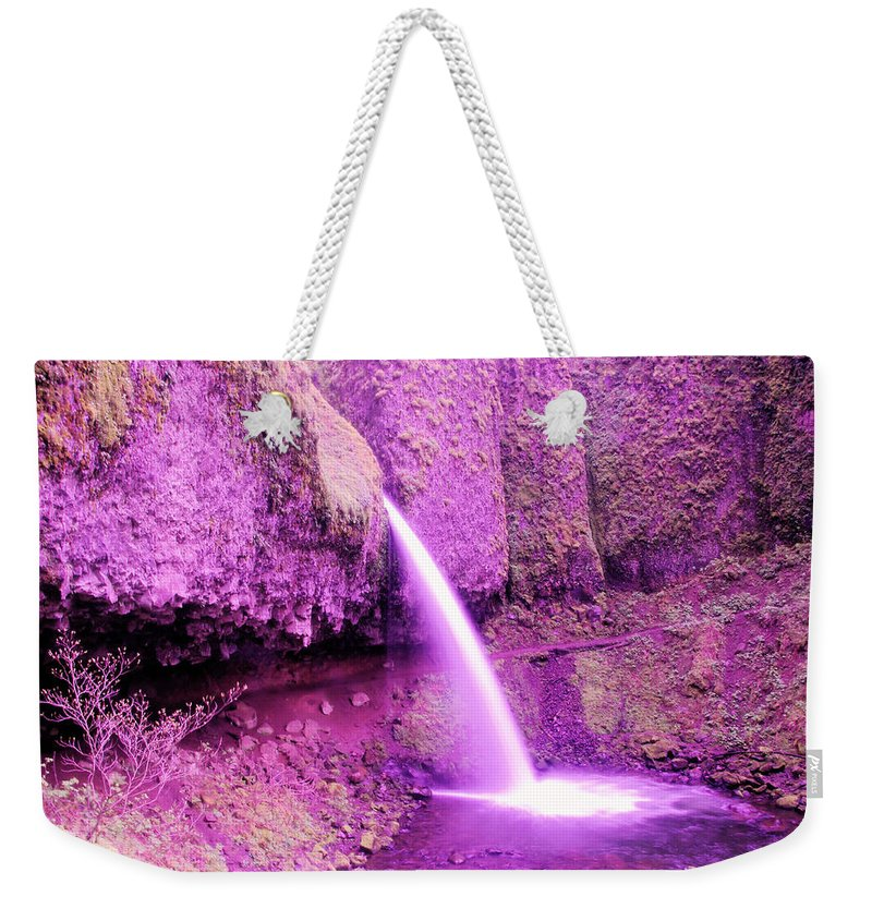 Waterfalls Weekender Tote Bag featuring the photograph Little Pony Tail Falls by Jeff Swan