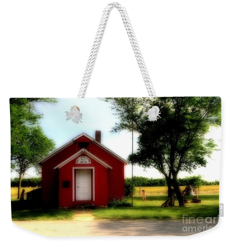 #red #schoo # Weekender Tote Bag featuring the photograph Little Red School House by Kathleen Struckle