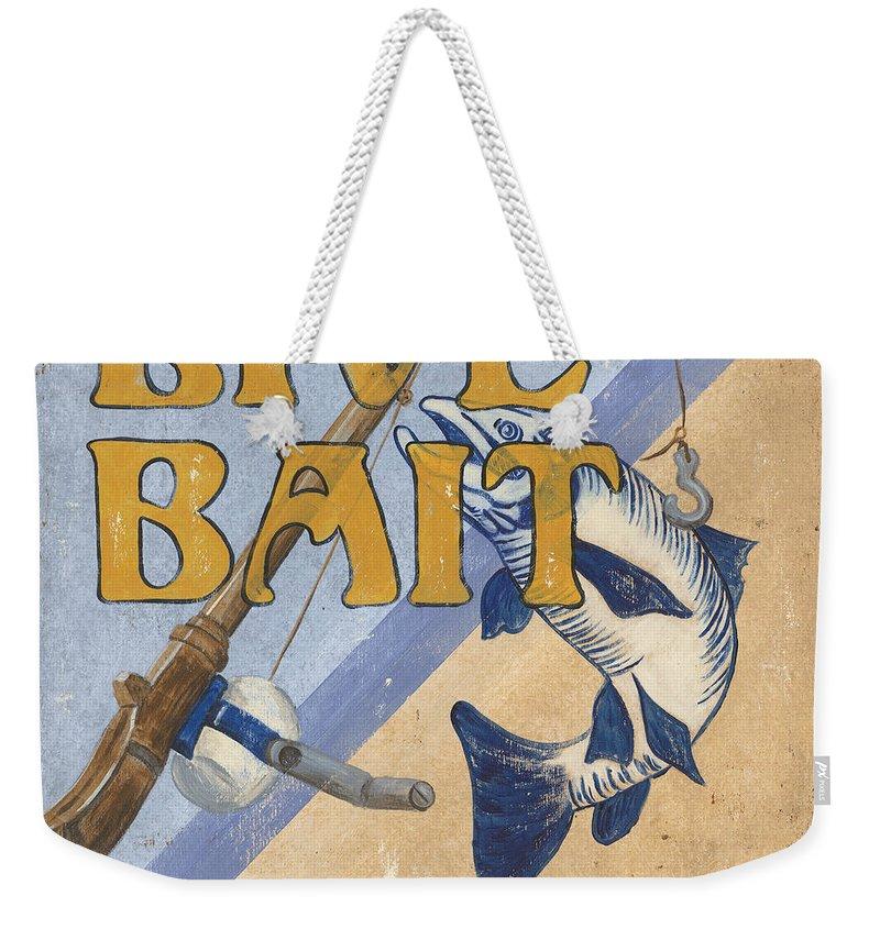 Live Weekender Tote Bag featuring the painting Live Bait by Debbie DeWitt