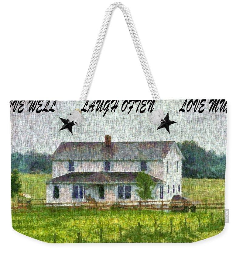 Holmes County Digital Art Weekender Tote Bags